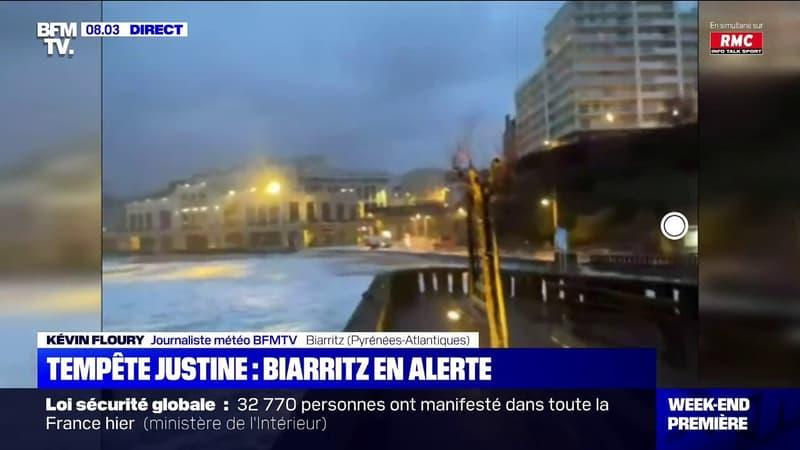 Biarritz en alerte après l'arrivée de la tempête Justine