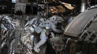 Luca Parmitano, lors d'une mission dans l'espace.