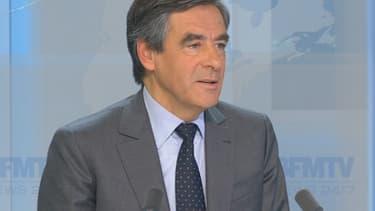 François Fillon chez Ruth Elkrief, mercredi sur BFMTV.
