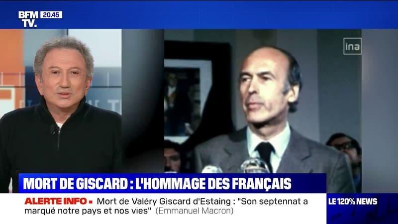 Célébrités et anonymes rendent hommage à Valéry Giscard d'Estaing