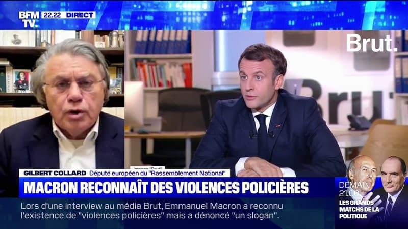 Pour Gilbert Collard, la plateforme annoncée par Emmanuel Macron contre les discriminations est une «poubelle à délation»