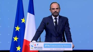 Edouard Philippe ce jeudi au Congrès des maires de France à Paris.