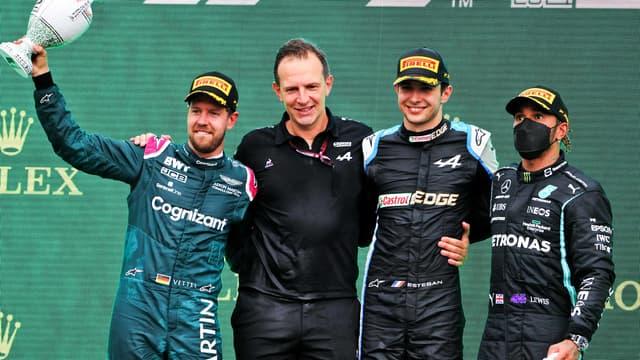 Le podium du Grand Prix de Hongrie