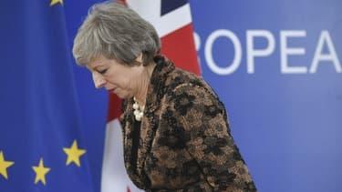 La Première ministre britannique Theresa May, lors du sommet européen de Bruxelles le 14 décembre 2018.