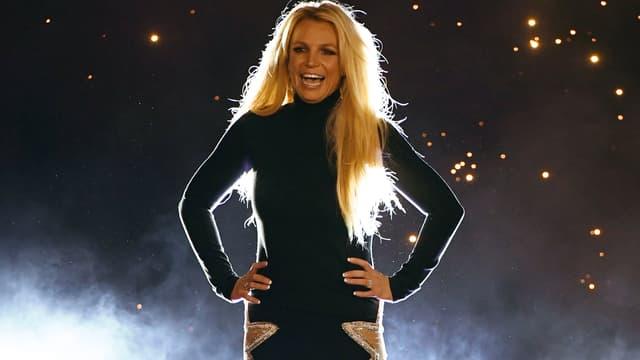 """Britney Spears lors de l'annonce de son nouveau show """"Domination"""""""