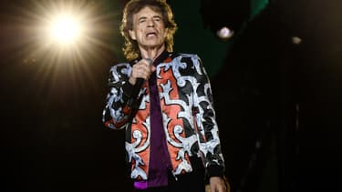 Mick Jagger sur scène à Marseille le 26 juin 2018 -
