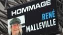 Hommage à René Malleville par l'OM avant la rencontre contre Rennes