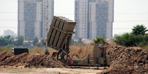 Une batterie antimissiles du Dôme de fer, au sud de Tel Aviv.