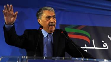 Ali Benflis, principal opposant à Abdelaziz Bouteflika et son ancien Premier ministre, lors d'un meeting, le 15 avril 2014