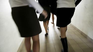 """Photo prise le 16 mars 2006 dans un lycée de Vitré, lors d'une """"journée de la jupe"""""""