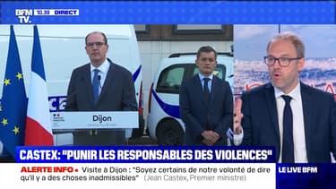 """Castex: """"Punir les responsables des violences"""" - 10/07"""