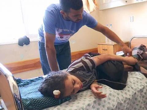 REPORTAGE - A Gaza, des Palestiniens victimes de bombardements à l'hôpital - 18/07