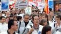 Manifestation le 13 septembre 2012 à Toulouse contre des suppressions de postes chez Sanofi.