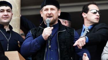 Le président tchétchène Ramzan Kadyrov s'exprime à Jérusalem, le 23 mars 2014. (Photo d'illustration)