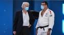 Jean-Luc Rougé (à gauche), le président de la Fédération française de judo