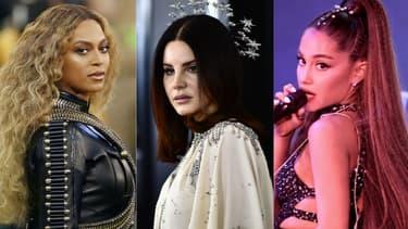Beyoncé, Lana Del Rey et Ariana Grande