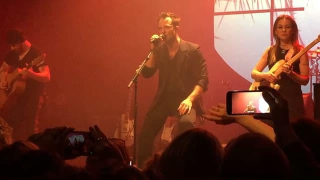 David Hallyday en concert à Ambès, le 16 mars 2018