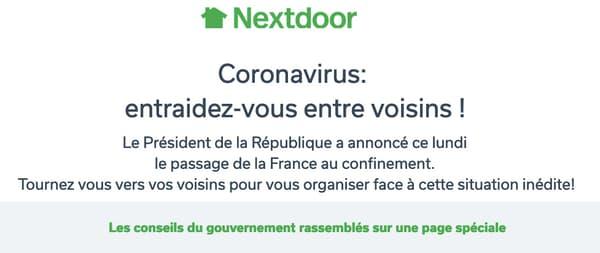 Une campagne d'entraide face au coronavirus.