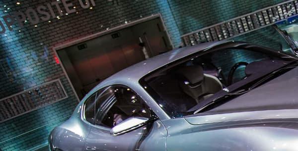 Le concept Aflieri, ici exposé au Mondial de l'automobile de Paris en 2014.