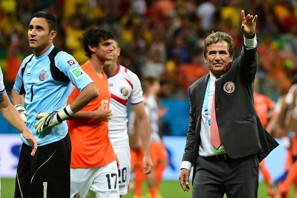 Keylor Navas et Jorge Luis Pinto lors du Mondial 2014