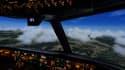 Le simulateur de vol reproduit la cabine de pilotage d'un Boeing 767.