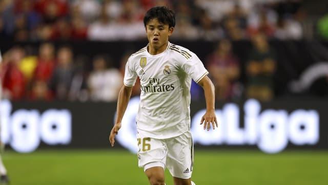 Takefusa Kubo avec le Real Madrid, à Houston le 21 juillet 2019