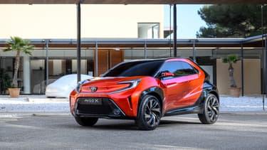 Le concept affiche un design entre la citadine et le SUV.