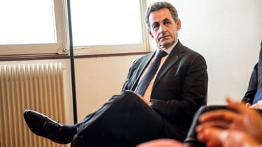 Au lendemain de l'élimination du candidat UMP dans le Doubs, Nicolas Sarkozy s'est rendu à Abou Dhabi pour donner une conférence rémunérée (photo d'illustration).