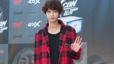 Le chanteur Jung Joon Young à Los Angeles en 2014