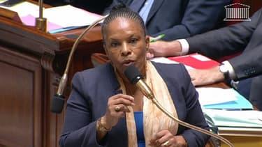 Christiane Taubira, à l'Assemblée nationale, mardi.