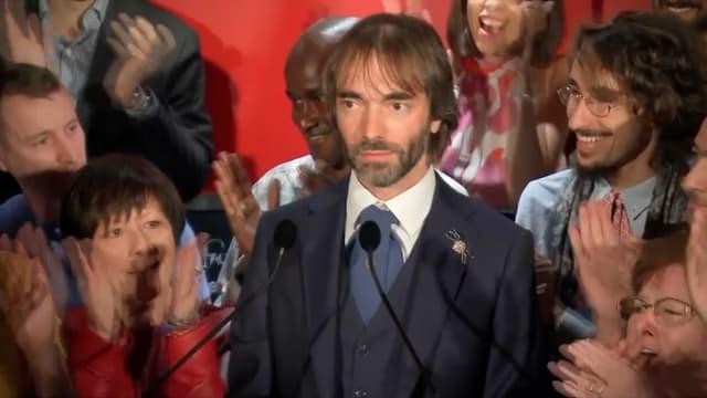 Cédric Villani lors de l'annonce de sa candidature à la mairie de Paris.
