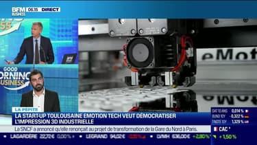 La  pépite : La start-up toulousaine eMotion Tech veut démocratiser l'impression 3D industrielle, par Lorraine Goumot - 22/09