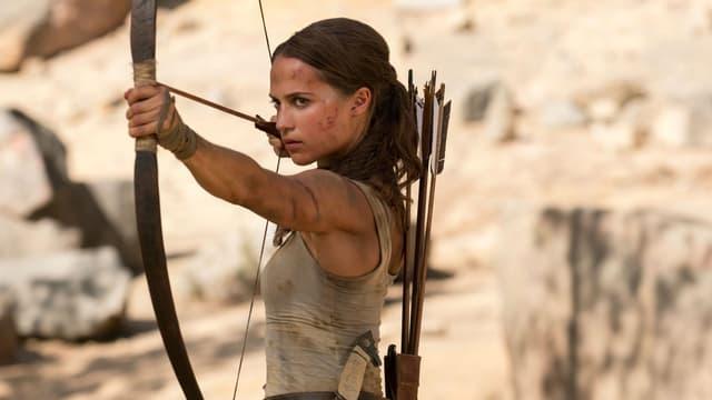 """Alicia Vikander dans """"Tomb Raider"""", sorti le 14 mars 2018"""