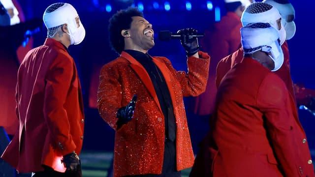 The Weeknd lors du show de la mi-temps du Super Bowl, le 7 février 2021