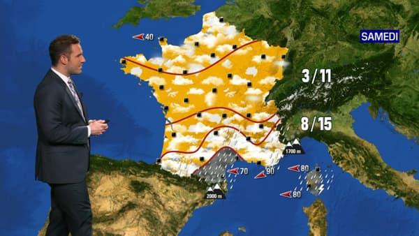 Prévisions météo pour le samedi 28 novembre 2020