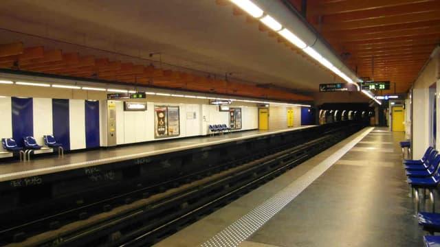 La station de métro Castellane, à Marseille, en 2012.