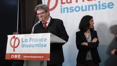 Jean-Luc Mélenchon et Manon Aubry, le soir des résultats des élections européennes, le 26 mai 2019.