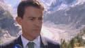 Manuel Valls s'est rendu vendredi à la Mer de Glace, à Chamonix, un déplacement placé sous le signe des enjeux climatiques à l'approche de la Cop-21.