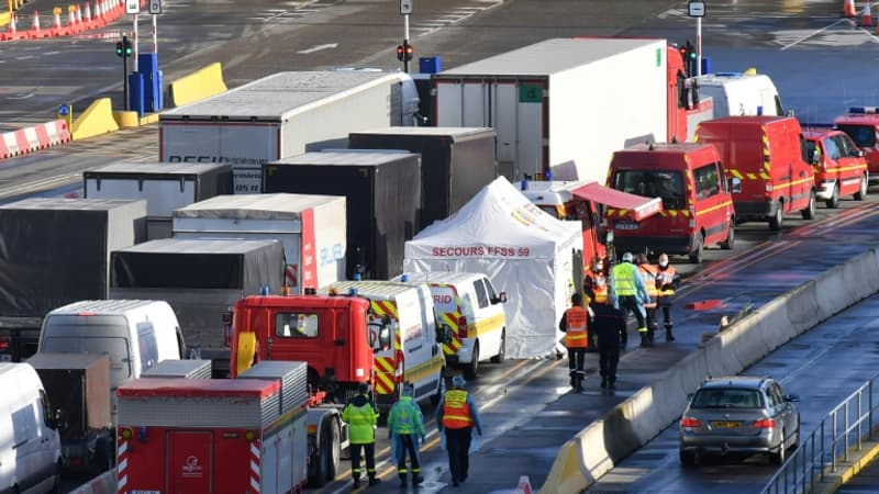 Douvres: la Croix-Rouge de Dunkerque distribue 1 000 repas aux routiers bloqués