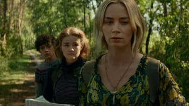 Emily Blunt, Millicent Simmonds et Noah Jupe dans la suite de Sans un bruit