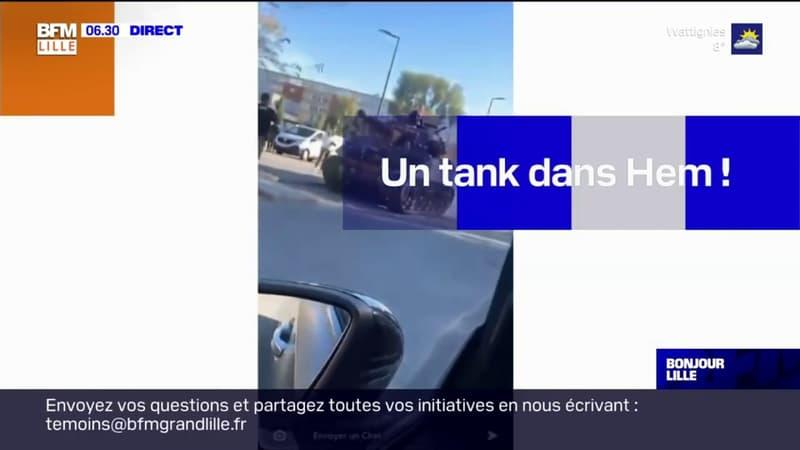 Nord: un tank dans les rues de Hem samedi pour un clip de rap