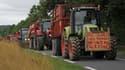 Les manifestants sont venus à bord d'environ 150 tracteurs et engins agricoles.