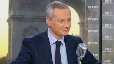 Le député UMP Bruno Le Maire sur le plateau de BFMTV le 7 octobre 2013
