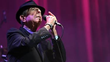 Leonard Cohen lors d'un concert à L'Olympia à Paris en 2012