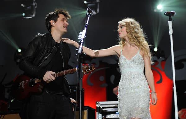 John Mayer et Taylor Swift ensemble sur scène