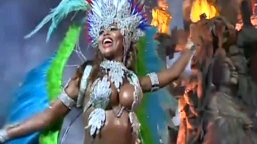 A l'occasion du carnaval, les défilés des écoles de samba commencent vendredi 28 février dans le Sambodrome de Rio