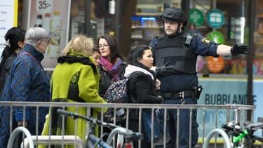 La police déployée à Stockholm.