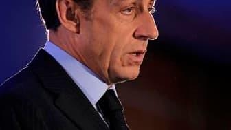 Nicolas Sarkozy a promis samedi de transmettre à la justice française tous les documents nécessaires à l'enquête sur l'attentat de Karachi, une affaire dans laquelle deux présidents et deux anciens Premiers ministres français sont cités. /Photo prise le 2