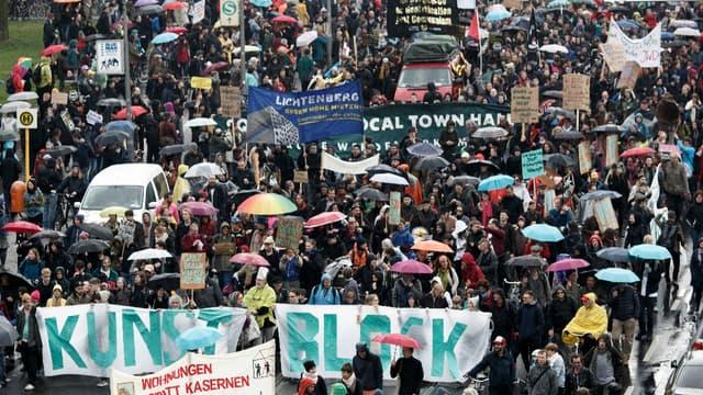 Entre 10.000 et 25.000 personnes ont manifesté.