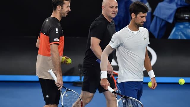 Stepanek, Agassi et Djokovic